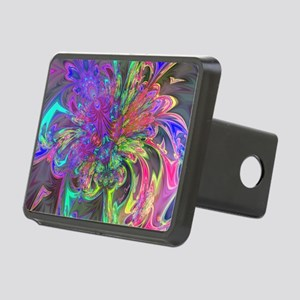 Glowing Burst of Color Dev Rectangular Hitch Cover