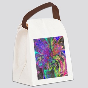 Glowing Burst of Color Deva Canvas Lunch Bag