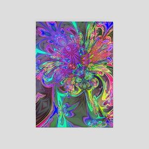Glowing Burst of Color Deva 5'x7'Area Rug