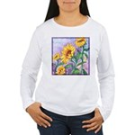 Sunny Sunflowers Watercolor Women's Long Sleeve T-
