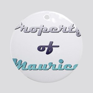 Property Of Maurice Male Round Ornament