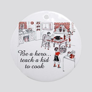 Teach A Kid To Cook Ornament (Round)