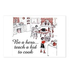 Teach A Kid To Cook Postcards (Package of 8)