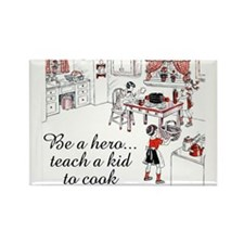 Teach A Kid To Cook Rectangle Magnet