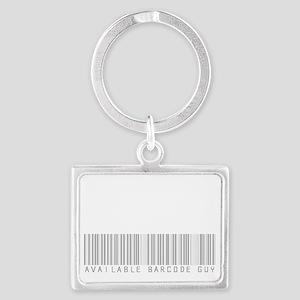 Scan Me Barcode Guy (dark) Landscape Keychain