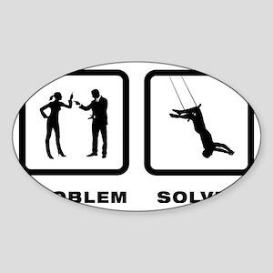 Trapeze-10-A Sticker (Oval)