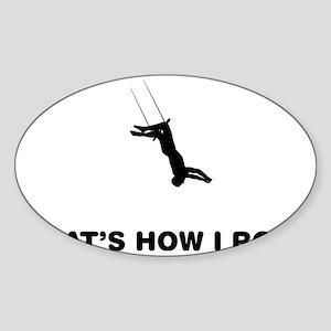Trapeze-12-A Sticker (Oval)