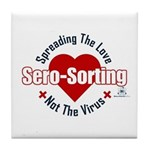 """Spreading The Love"" Tile Coaster"