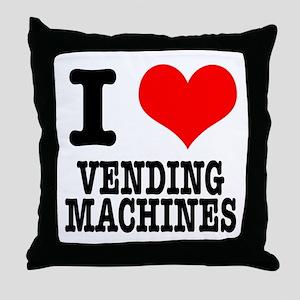 I Heart (Love) Vending Machines Throw Pillow