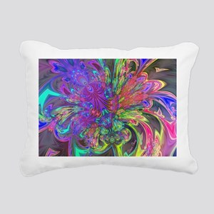 Glowing Burst of Color D Rectangular Canvas Pillow