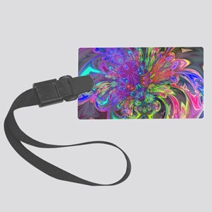 Glowing Burst of Color Deva Large Luggage Tag