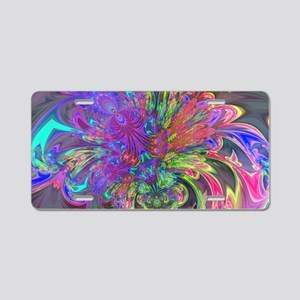 Glowing Burst of Color Deva Aluminum License Plate
