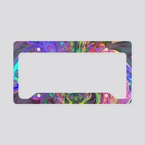 Glowing Burst of Color Deva License Plate Holder