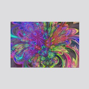 Glowing Burst of Color Deva Rectangle Magnet