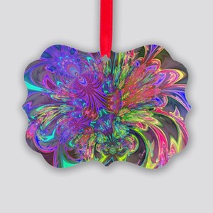 Glowing Burst of Color Deva Picture Ornament