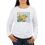 Tulips Watercolor Women's Long Sleeve T-Shirt