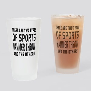 Hammer Throw designs Drinking Glass