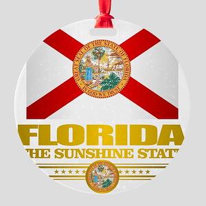 Florida Pride Round Ornament