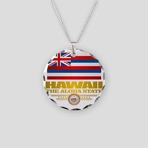 Hawaii Pride Necklace Circle Charm