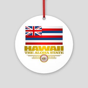 Hawaii Pride Round Ornament