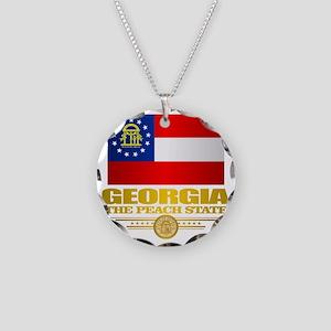 Georgia Pride Necklace Circle Charm