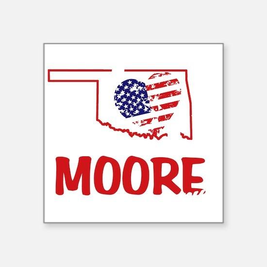 """I Love You Moore Square Sticker 3"""" x 3"""""""