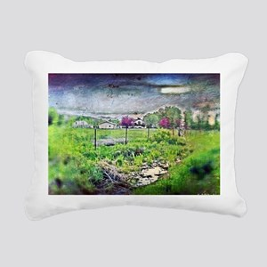 Woodland pasture Rectangular Canvas Pillow