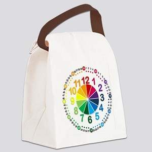 Read It Myself Clock Canvas Lunch Bag