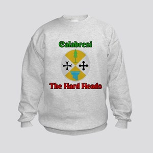 Calabresi, the hard heads. Kids Sweatshirt