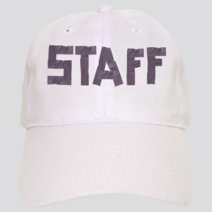STAFF in duct tape font Cap
