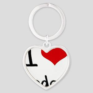 I love Cedar Heart Keychain