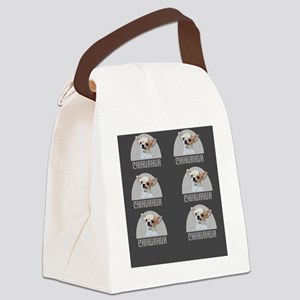 Chihuahua Dog Gray Canvas Lunch Bag