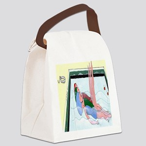Synchronized Swimming Canvas Lunch Bag