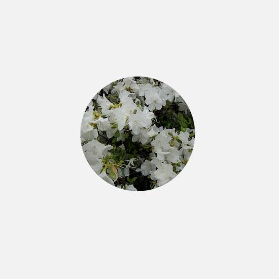 White Azaleas Mini Button