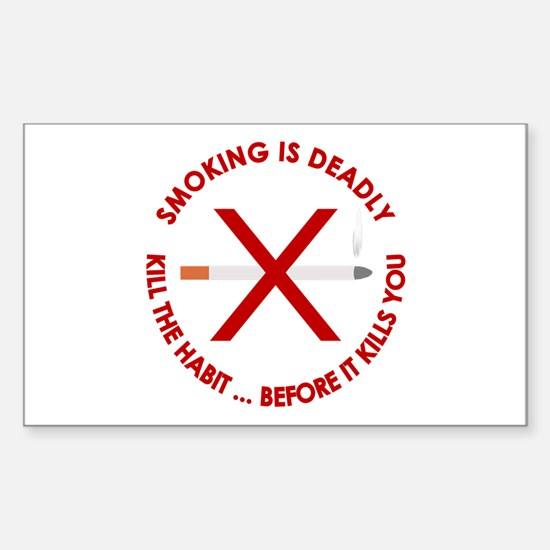...Smoking Is Deadly... Rectangle Decal