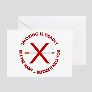 ...Smoking Is Deadly... Greeting Cards (Package of