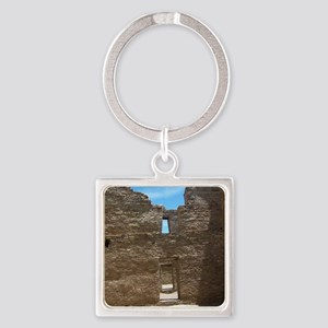 Chaco Canyon National Historic Par Square Keychain