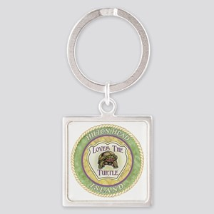 Hilton Head Turtle Square Keychain