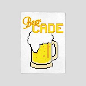 BeerCade - 8-bit Pixel Arcade Beer 5'x7'Area Rug