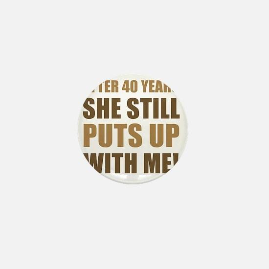 40th Anniversary Humor For Men Mini Button
