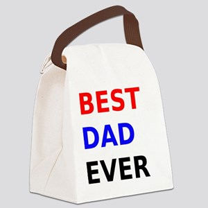 Best Dad Ever Canvas Lunch Bag