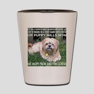 Dusty - Puppy Mill Survivor Shot Glass