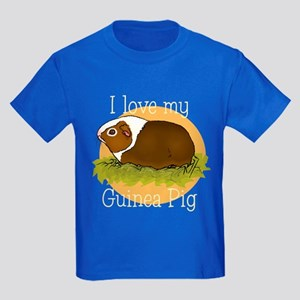 I Love my Guinea Pig Kids Dark T-Shirt