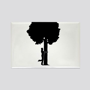 Tree-Hugger-03-A Rectangle Magnet
