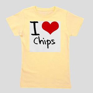 I love Chips Girl's Tee