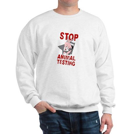 Stop Animal Testing Sweatshirt