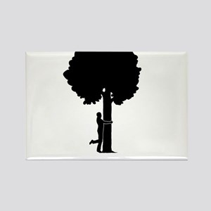 Tree-Hugger-12-A Rectangle Magnet