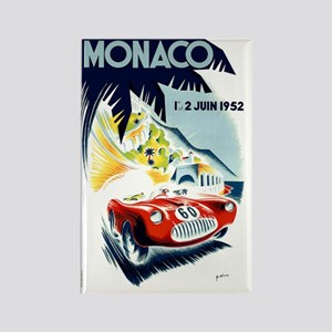 Antique 1952 Monaco Grand Prix Ra Rectangle Magnet