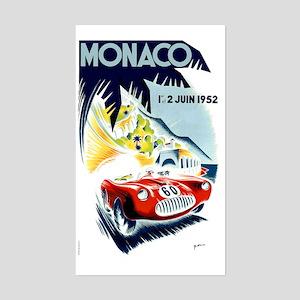 Antique 1952 Monaco Grand Prix Sticker (Rectangle)