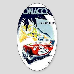 Antique 1952 Monaco Grand Prix Race Sticker (Oval)